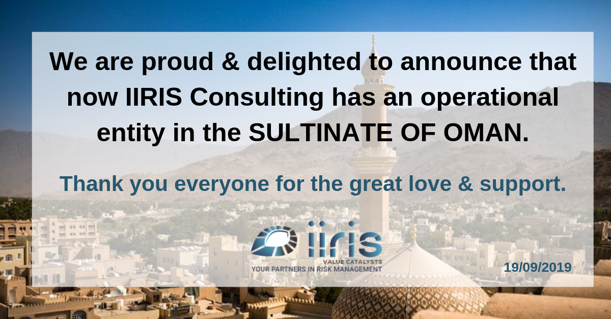 Proud Moment: IIRIS now has an operational entity in OMAN